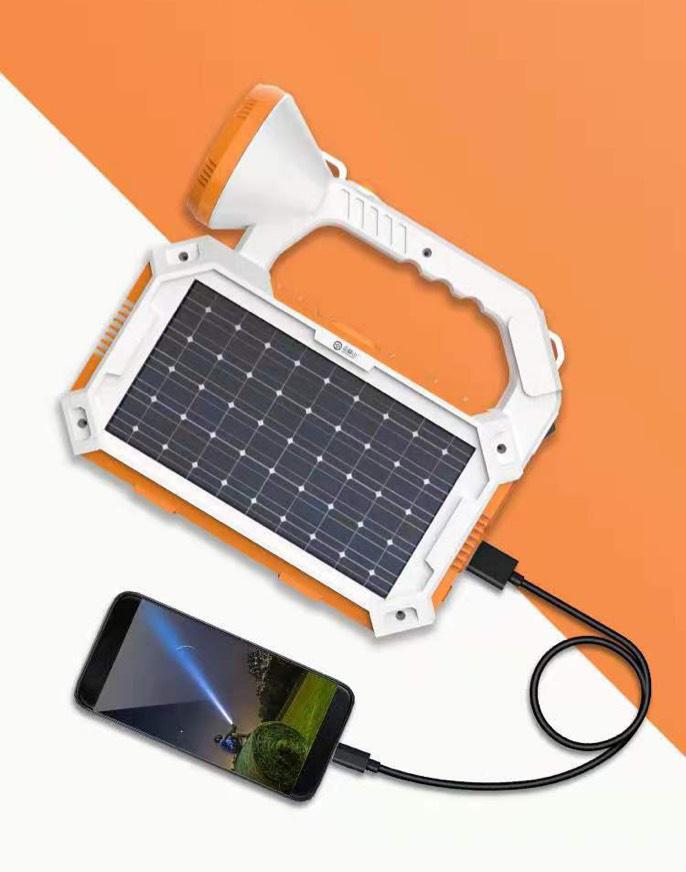 Đèn pin năng lượng mặt trời 2in1
