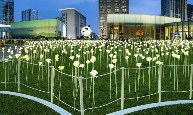 Vườn hoa hồng bằng đèn LED đẹp lung linh